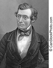 Thomas Graham 1805-1869 on engraving from 1800s Scottish...