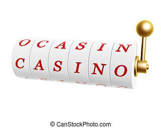 slot machine with casino sign