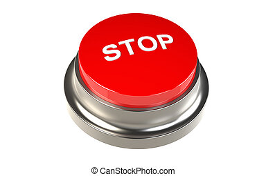 Button for Stop Red Stop Button
