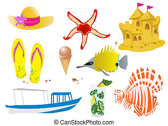 stock-vector-set-of-summer-elements