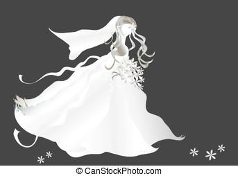 Bride on black