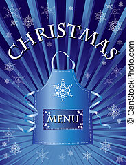 christmas menu blue