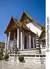 Wat Suthat - exterior of the temple Wat Suthat in Bangkok