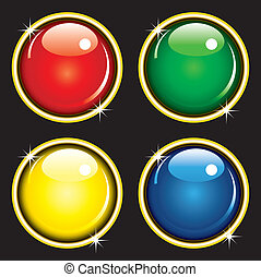 Glossy web buttons illustration of glossy web buttons in...
