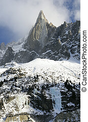 Mountain peaks - Dru pick, mountain near Chamonix