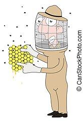 Beekeeper - Isolated cartoon Beekeeper character