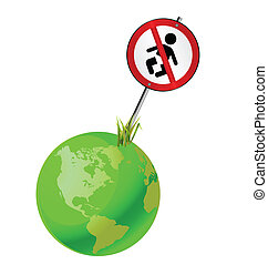 global population - Concept of earth to regulate the growing...