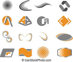 Logo elements - Set of design elements for your business or...