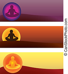 yoga - set of yoga vector illustrations