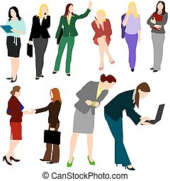 People - Business Women No.1. - Illustrations set of...
