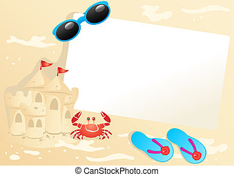 summer-banner - Vector illustration of paper with...