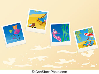 vacation-cards - Vector illustration of vacation cards on...