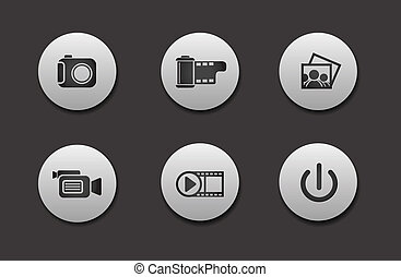 Set of Media Icons - Set of different Media Icons graphics...
