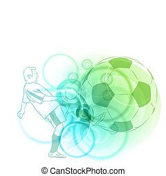 soccer background - light soccer background in blue and...