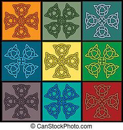 Celtic knot cross tile