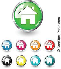 Home icon vector set