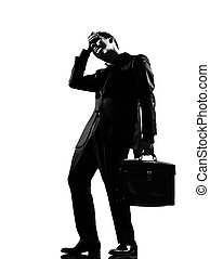 silhouette man - silhouette caucasian business man...