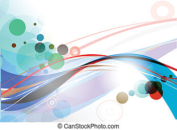abstract wave line background. vector illustration.