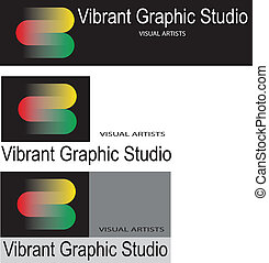 logo - Graphic studio logo, three versions