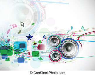abstract music background - abstract music wave line...