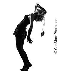 stylish silhouette woman