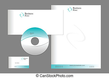 Letterhead Template design - editable vector file