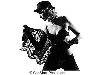 stylish silhouette woman - stylish silhouette caucasian...