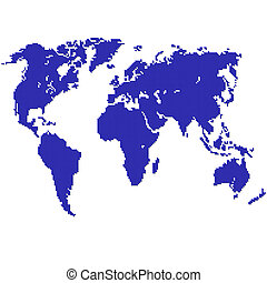 Detailed vector map of the world