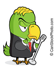 Character_005-030jpg - cute vector parrot on white...