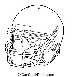 Sport_17-010jpg - American football helmet outline vector...
