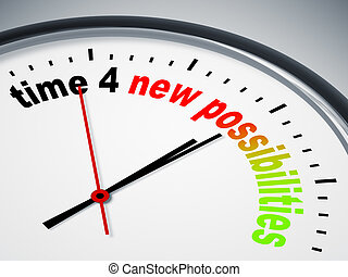 time 4 new possibilities - An image of a nice clock with...