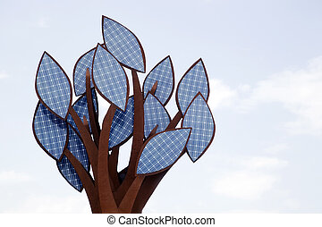 A tree of solar energy cells