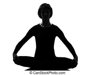 sukhasana woman yoga sukhasana pose - woman yoga sukhasana...