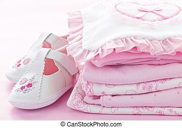 Pink baby clothes for infant girl - Pink infant girl...