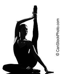 woman ballet dancer - beautiful caucasian tall woman ballet...