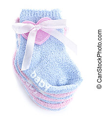 Baby socks gift - Pink and blue infant socks for baby shower...