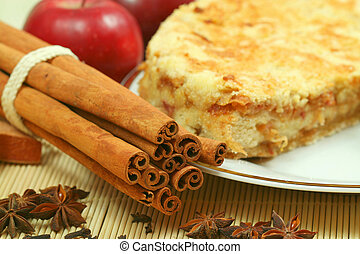 Apple pie with spices