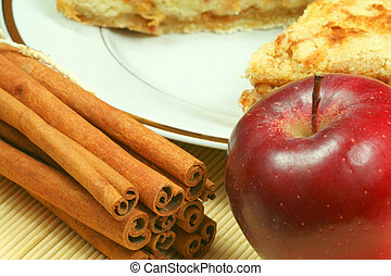 Apple with cinnamon - ingredients for apple pie