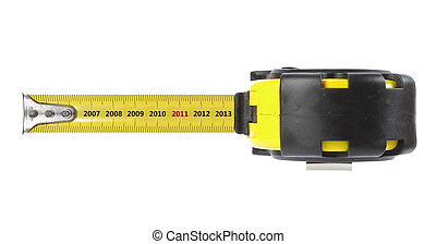 tape measure with year concept 2011. isolated over white