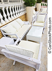 Patio furniture outdoor - Wicker patio furniture outdoor in...