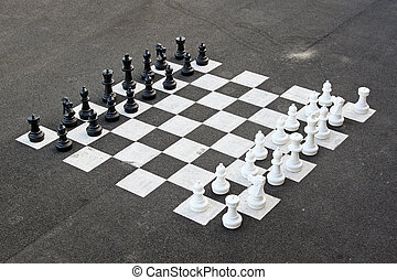 Chess board - Outdoor chess game and big chequer board
