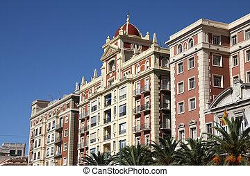 Malaga, Spain - Malaga in Andalusia, Spain. Old style...