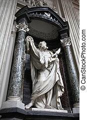 Saint Bartholomew - Statue of Apostle Bartholomew. Rome,...
