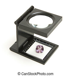 Appraisal of an Amethyst Gem - A loupe inspection of a...