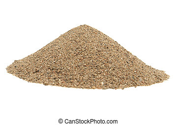 Sand Pile - An isolated shot of a pile of sand to use in a...