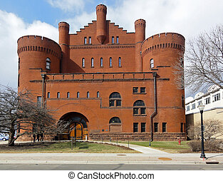 University of Wisconsin - Beautiful red castle architecture...