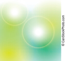 abstract background green and magic lights, vector