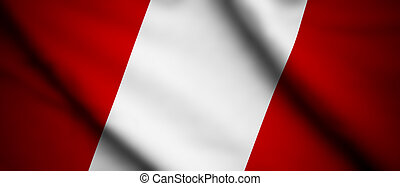 Peru - High detailed waving flag of different countries from...