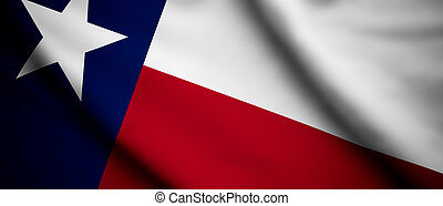 Texas - High detailed waving flag of different countries...