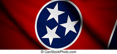Tennessee - High detailed waving flag of different countries...